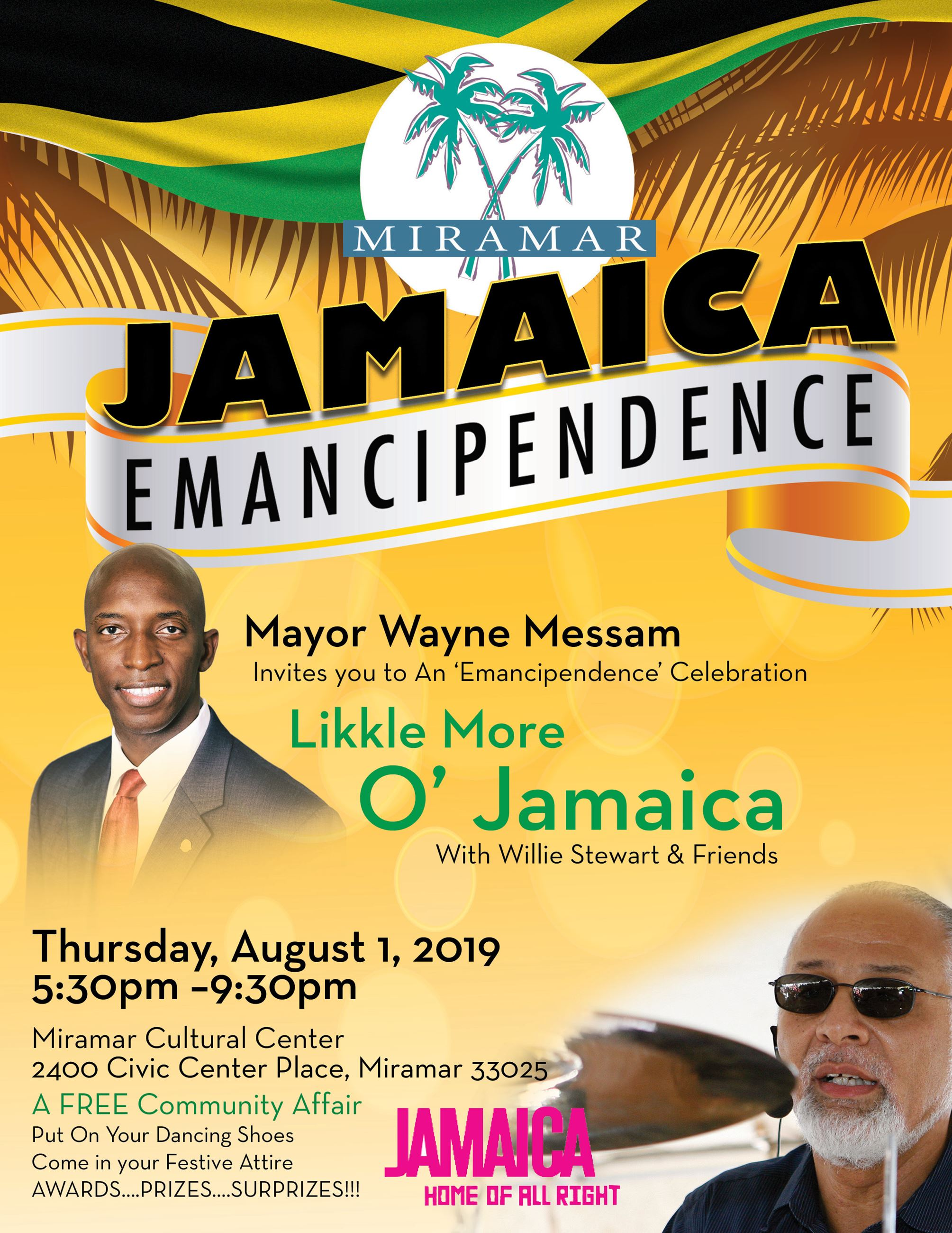 Mayor Messam Initiative - Jamaica Emancipendence August 1