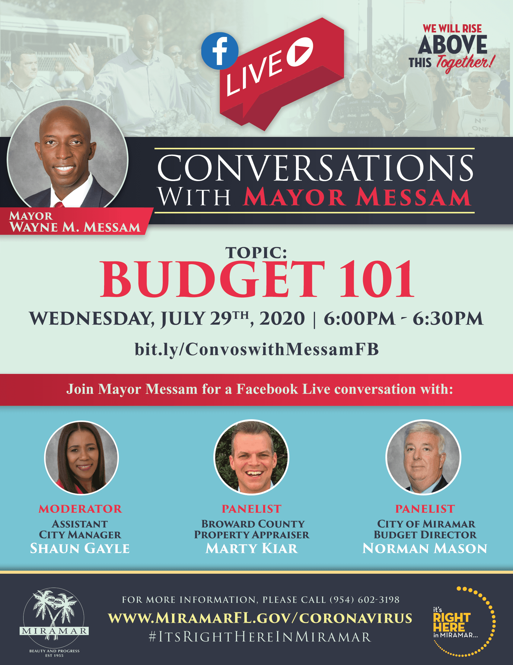 Conversations with Mayor Flyer JULY 29