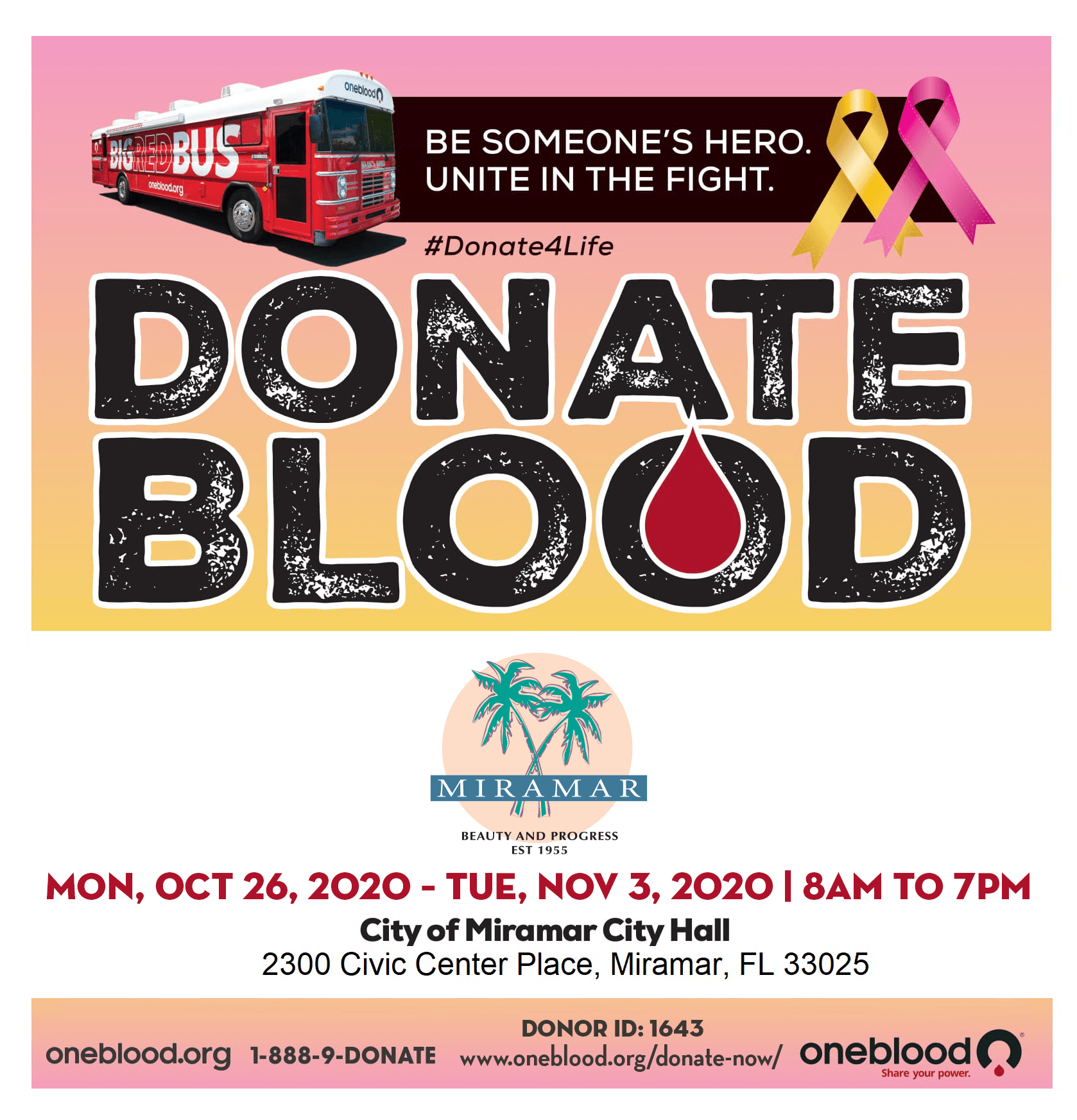 Blood Drive at City Hall - Home Page Banner