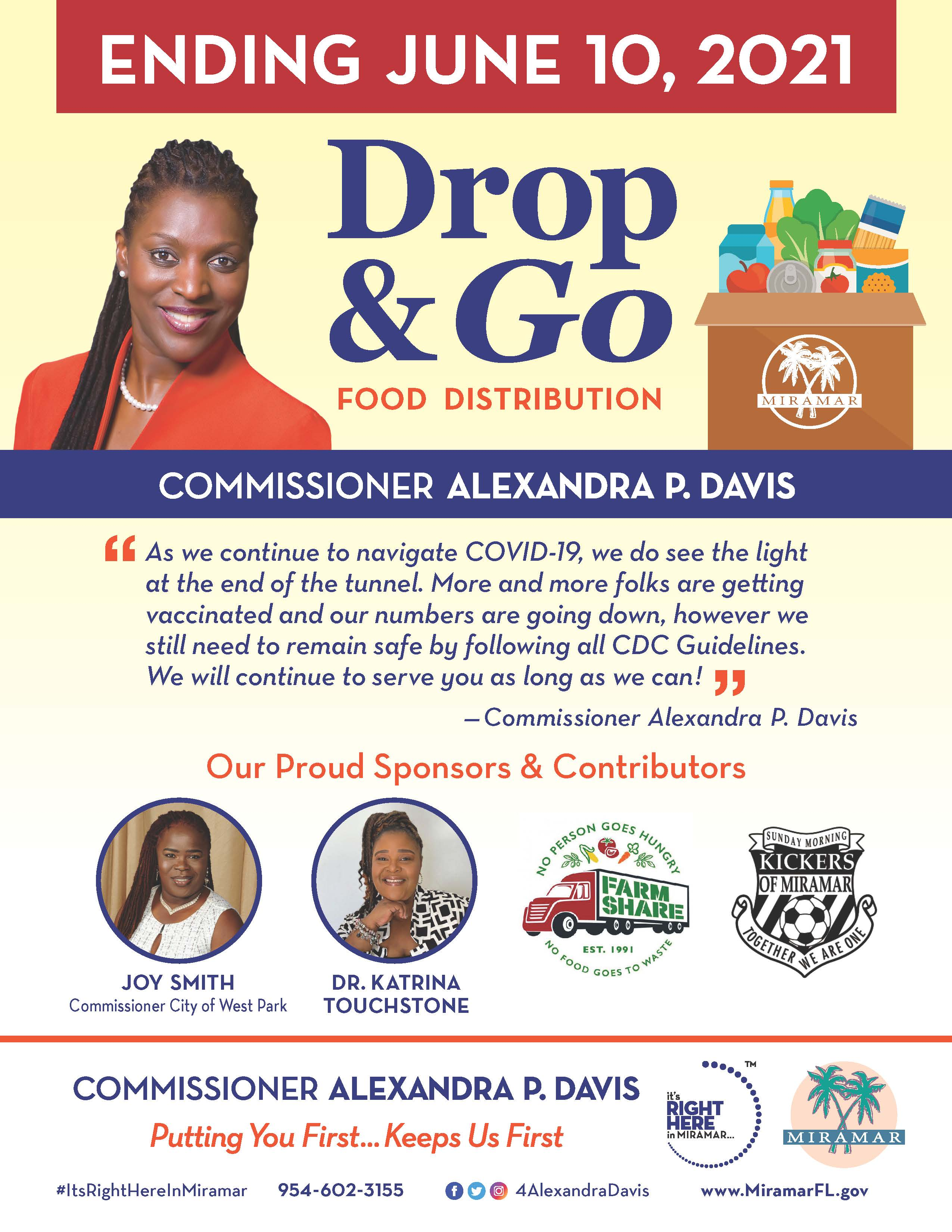 Commissioner Davis Drop and Go Feeding Miramar Initiative Covid-19