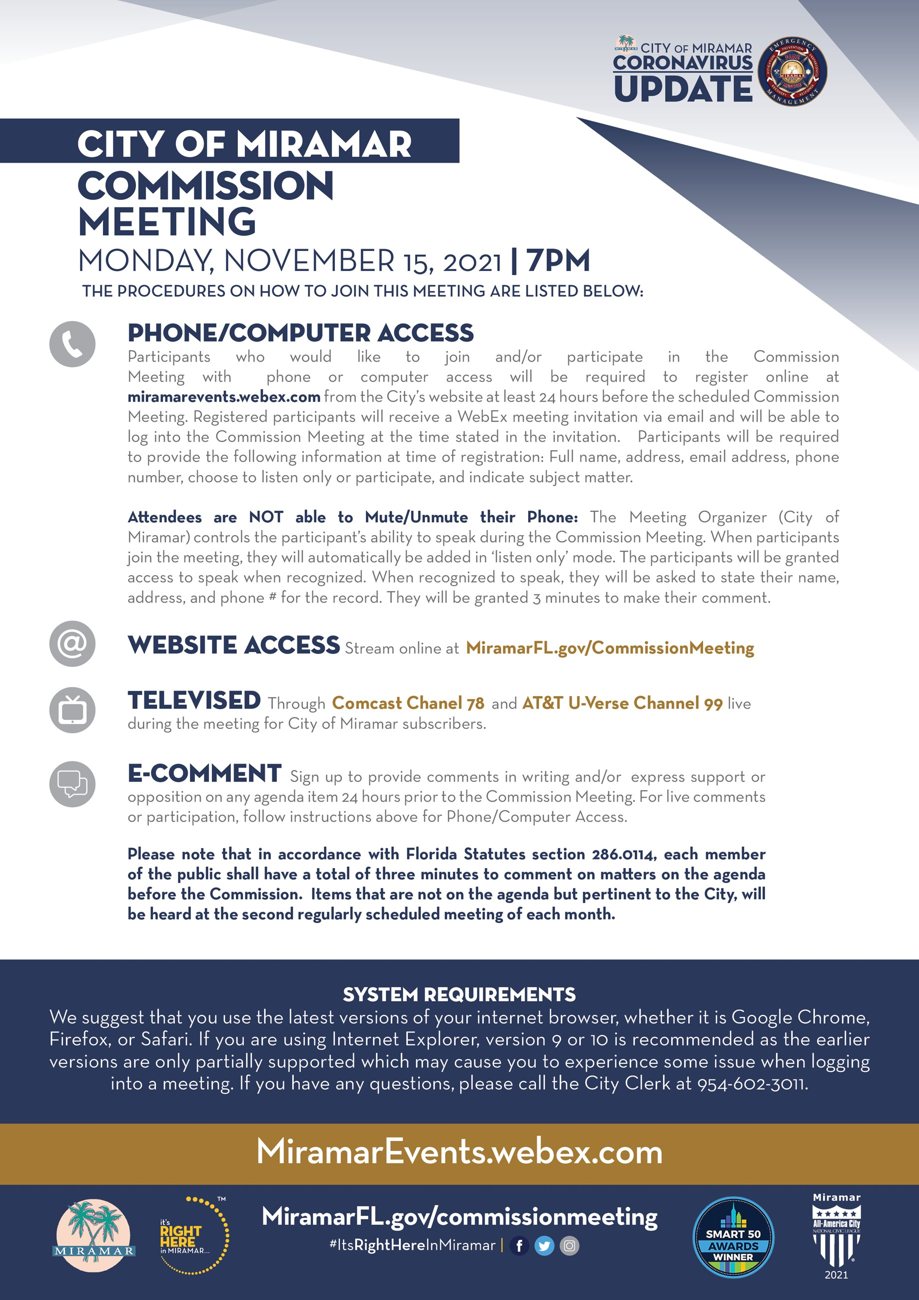 Upcoming Virtual Commission Regular Meeting - Flyer