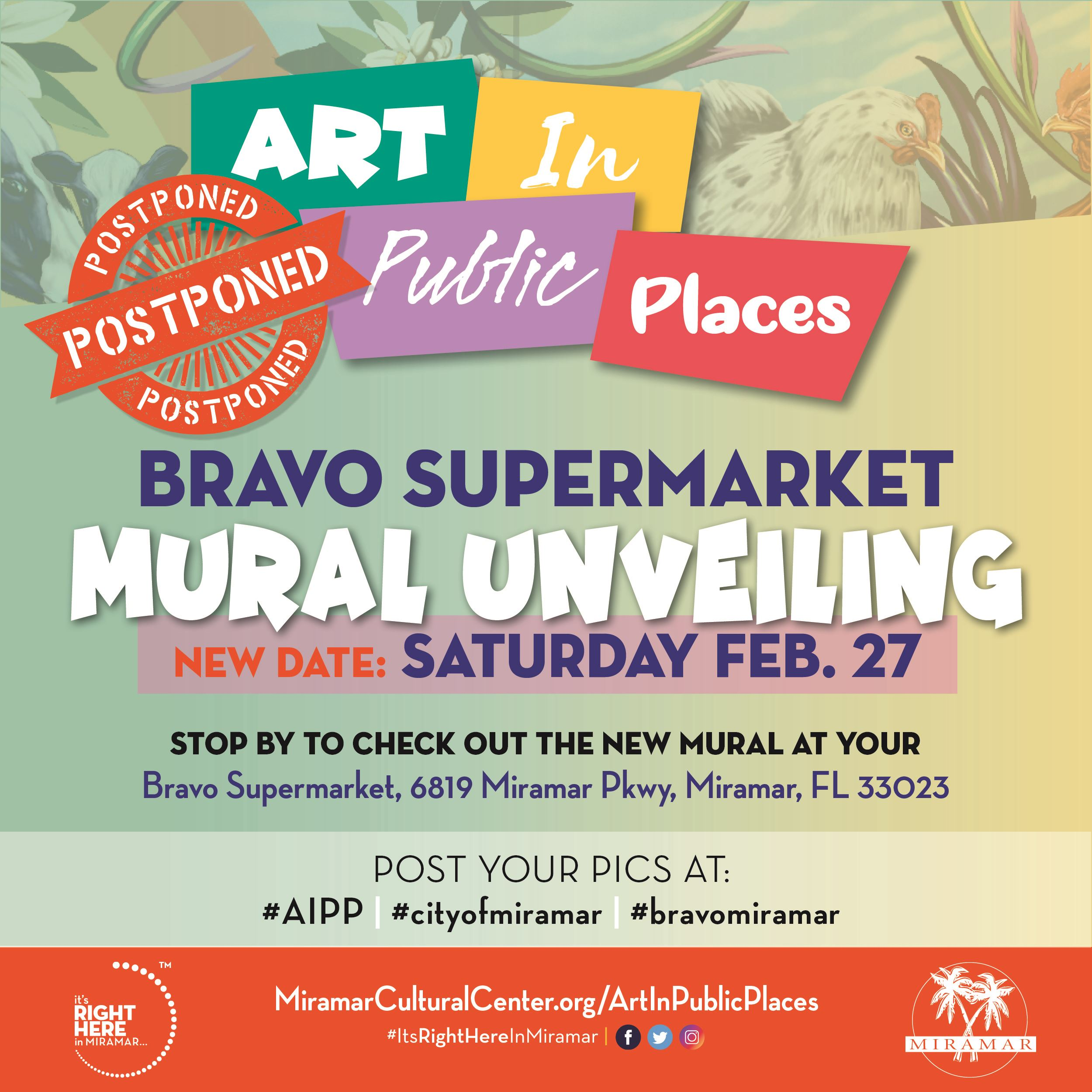 Commissioner Davis Art in Public Places Bravo Mural Postponed