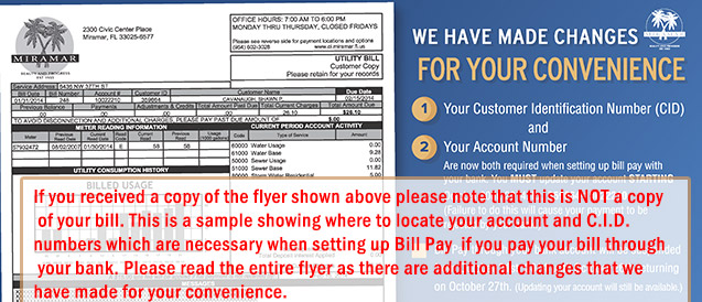 Sample of Flyer Received in Mail Showing Account Number