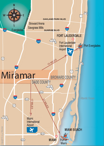 Miramar, Florida Map